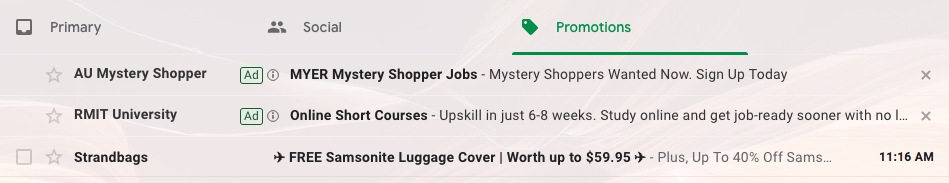 Gmail Ads In Action