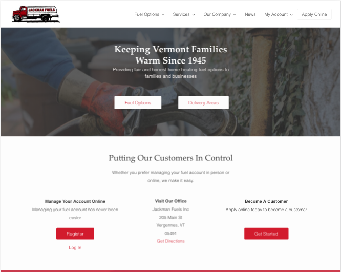 Jackman Fuels New Website