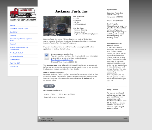 Jackman Fuels Old Website